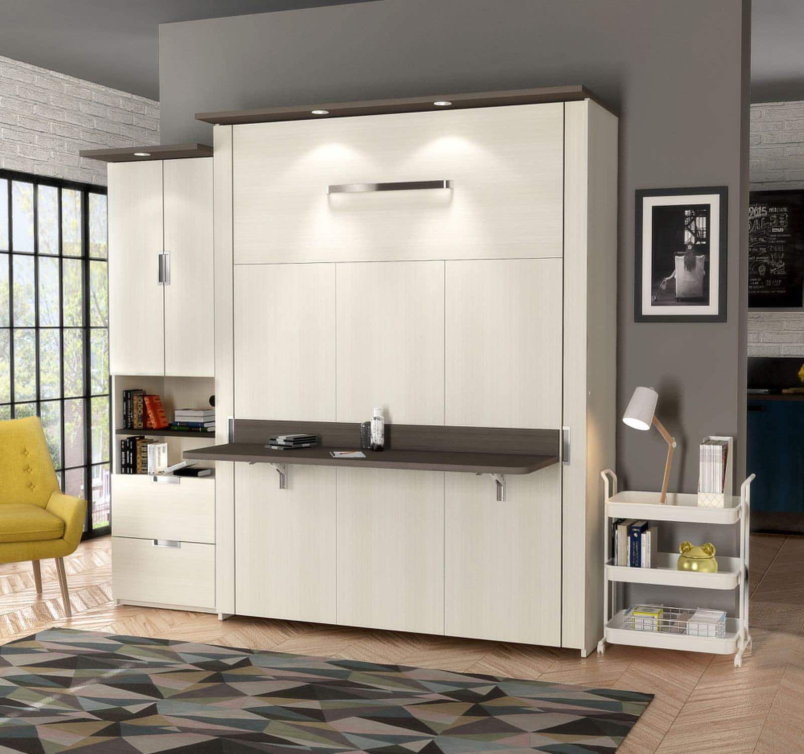 Picture of: 4 Reasons To Add A Murphy Bed With Desk To Your Home Bestar
